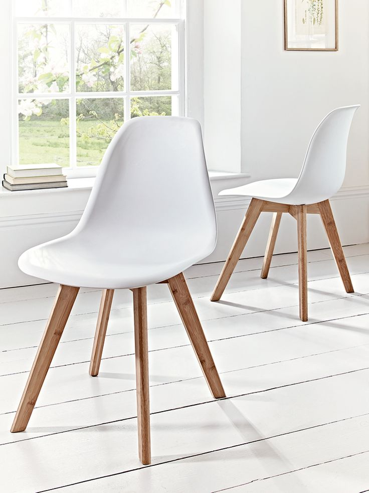NEW Two Aalto Dining Chairs - White - NEW THIS SEASON - Indoor Living