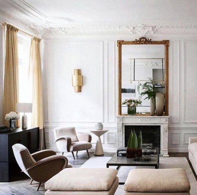 51 Scandinavian Living Room Ideas You Were Looking For Godiygo Com Parisian Living Room Living Room Mirrors Living Room Scandinavian