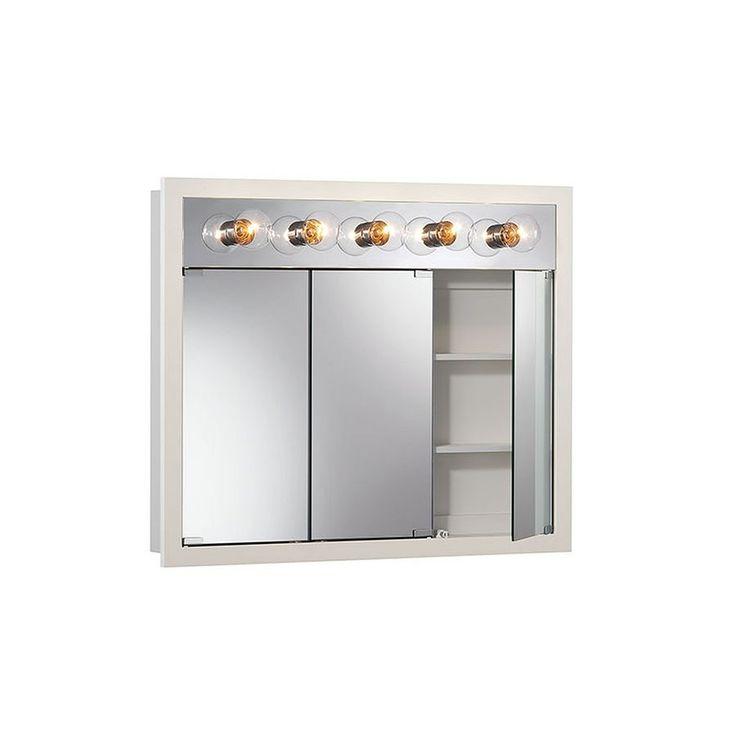 best 25 medicine cabinets with lights ideas on pinterest medicine cabinets dark vanity. Black Bedroom Furniture Sets. Home Design Ideas