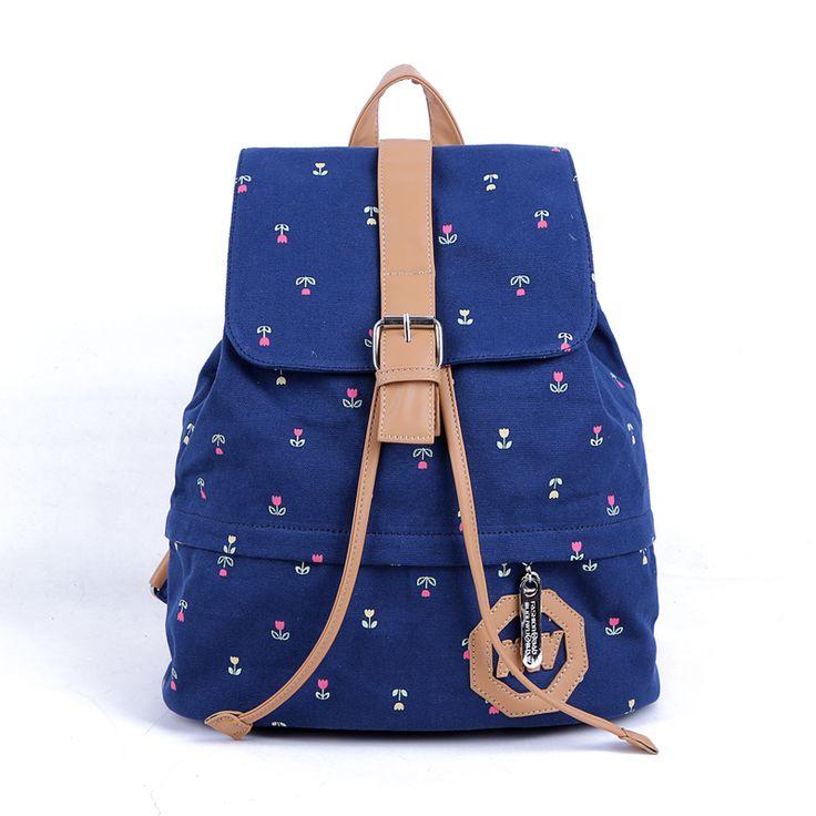 envío gratis de la mujer bolso mochila bolsa de lona estilo de muy buen gusto del estudiante de la escuela las niñas bolsa moc...