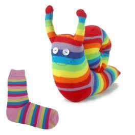 Animaux en chaussettes - Escargot chaussette