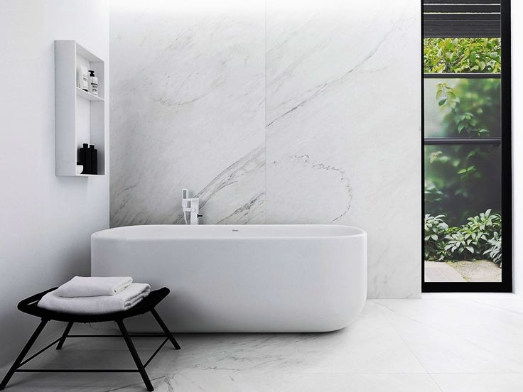 Up on the design blog // Read all about the cutting edge new XLight material from Porcelanosa. #design #bathroom #retreatdesign
