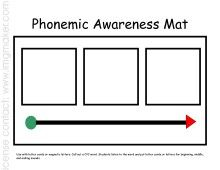 elkonin boxes template - printable phonemic awareness mat kindergarten literacy