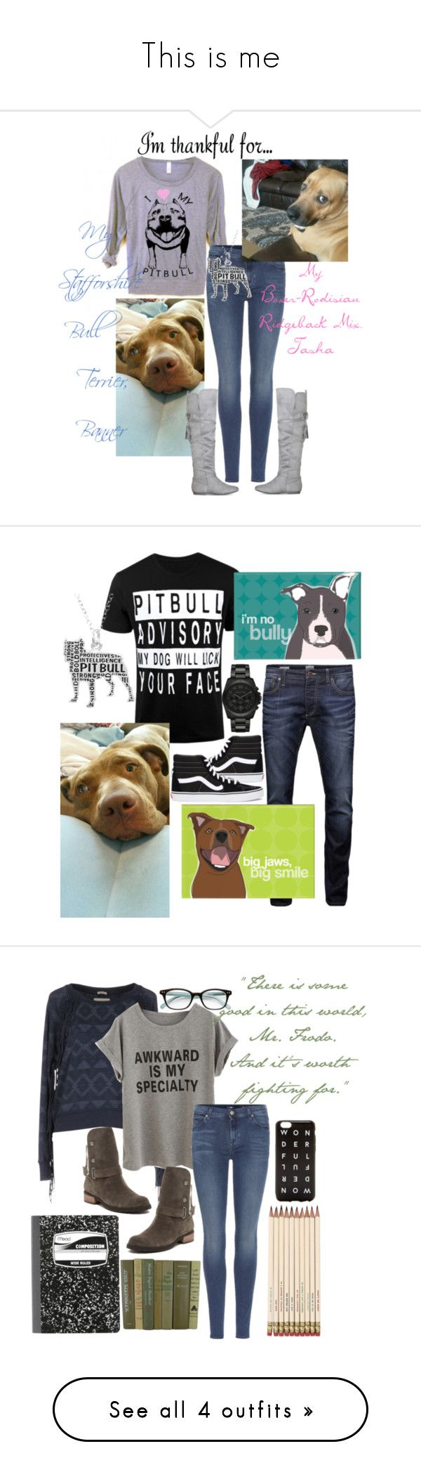 """""""This is me"""" by theonewhorunswithwolves ❤ liked on Polyvore featuring 7 For All Mankind, imthankfulfor, Jack & Jones, Vans, Michael Kors, Matt Bernson, Superdry, Kate Spade, J.Crew and WearAll"""