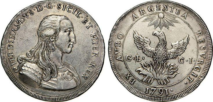 NumisBids: Numismatica Varesi s.a.s. Auction 65, Lot 541 : PALERMO - FERDINANDO III DI BORBONE (1759-1816) Oncia da 30 Tarì...