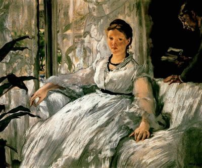 Édouard Manet, The Reading, 1868. Oil on canvas, 61 x 74 cm. Museo de Orsay.