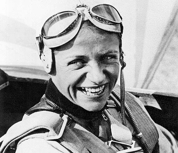 Hanna Reitsch, the only woman awarded the Iron Cross First Class and the Luftwaffe Pilot/Observer Badge in Gold with Diamonds during World War II. She set over forty aviation altitude and endurance records during her career, both before and after World War II, and several of her international gliding records still stand in 2012