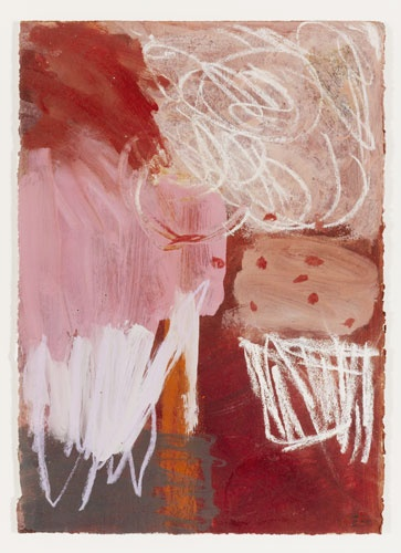 GAIL ENGLISH  'Dust Storm I'   2011  oil and crayon on archival paper  37 x 26 cm