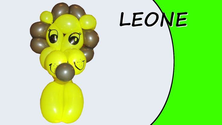 Video tutorial on how to make a lion with balloons twisting #lion