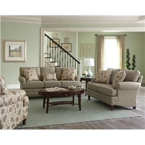 England Evans Living Room Sofa With Button Tufts   Miller Brothers Furniture    Sofa West Central