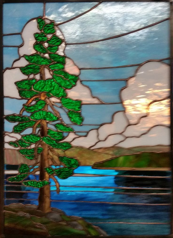 stained glass landscapes