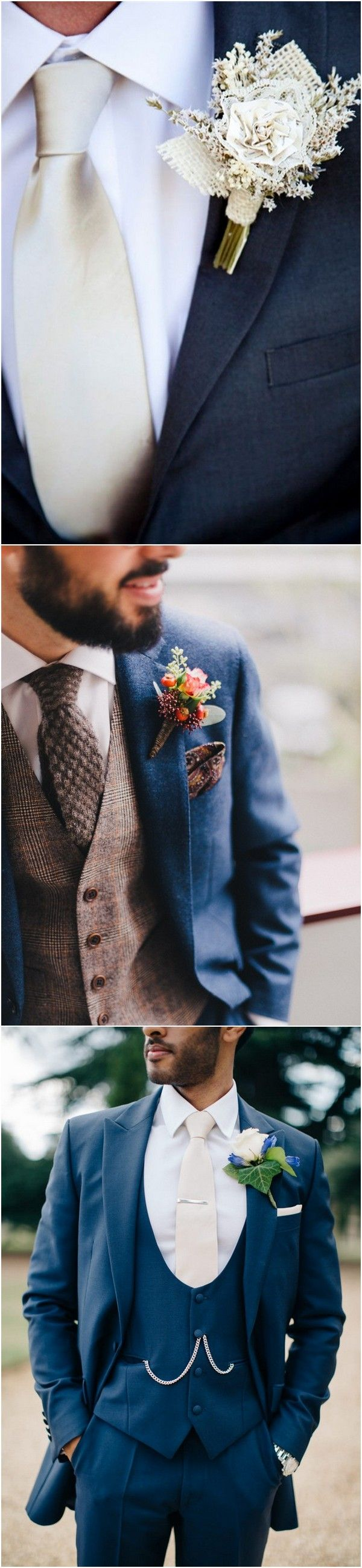 amazing groom suit wedding ideas with metallic tie