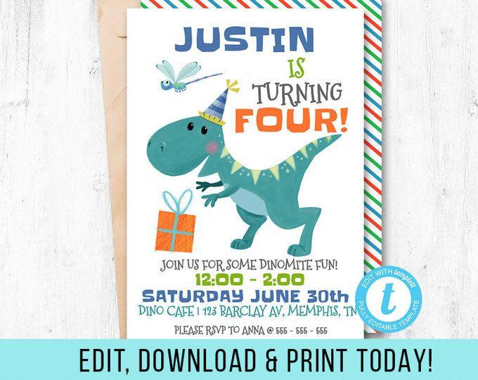 dinosaur party invitation dinosaur