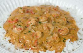 """Louisiana Crawfish Etouffee Recipe ~ Popular around the state, étouffée literally means """"smothered."""" This rich Creole dish can be prepared with crawfish or shrimp and is served over rice."""