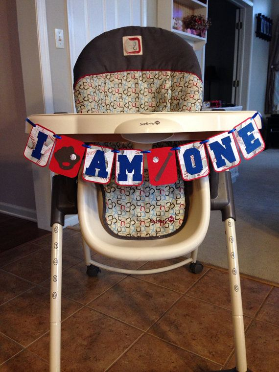 I AM ONE Birthday Banner Baseball themed first by HandmadeByVee, $13.00