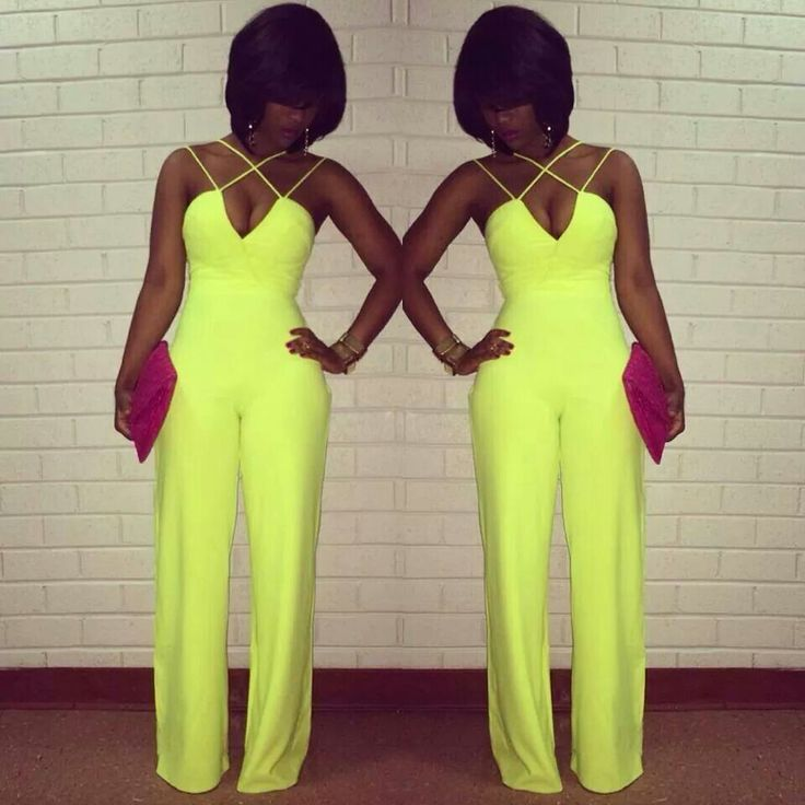 I usually despise rompers/jumpsuits ....I could def dig this neon strappy one tho
