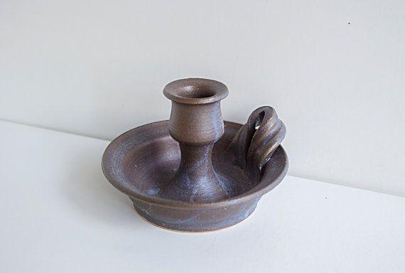 Portacandele in ceramica Studio svedese dell'annata