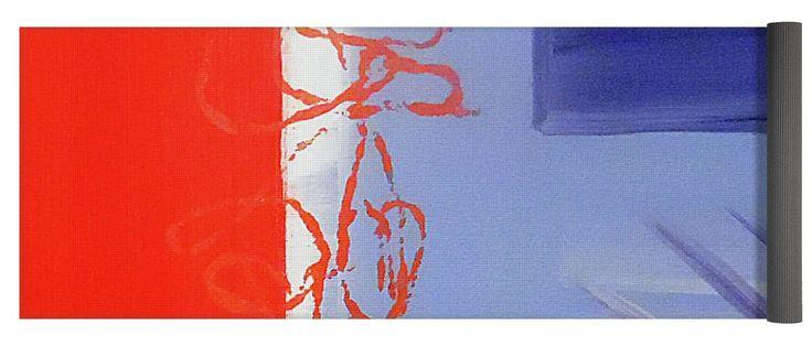 Abstract America Yoga Mat for Sale by Jilian Cramb #abstractart #yoga #namaste