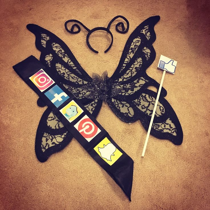 DIY Social Butterfly Costume