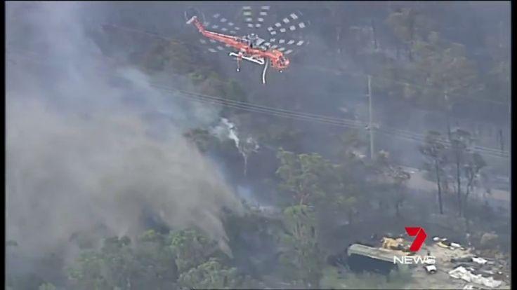 Firefighters tacking the Weston & Kurri Kurri bushfires Australia