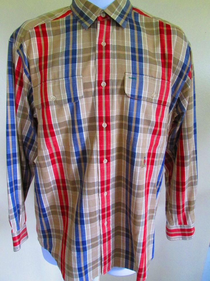Tommy Hilfiger Shirt S long sleeve button down multi color cotton ...