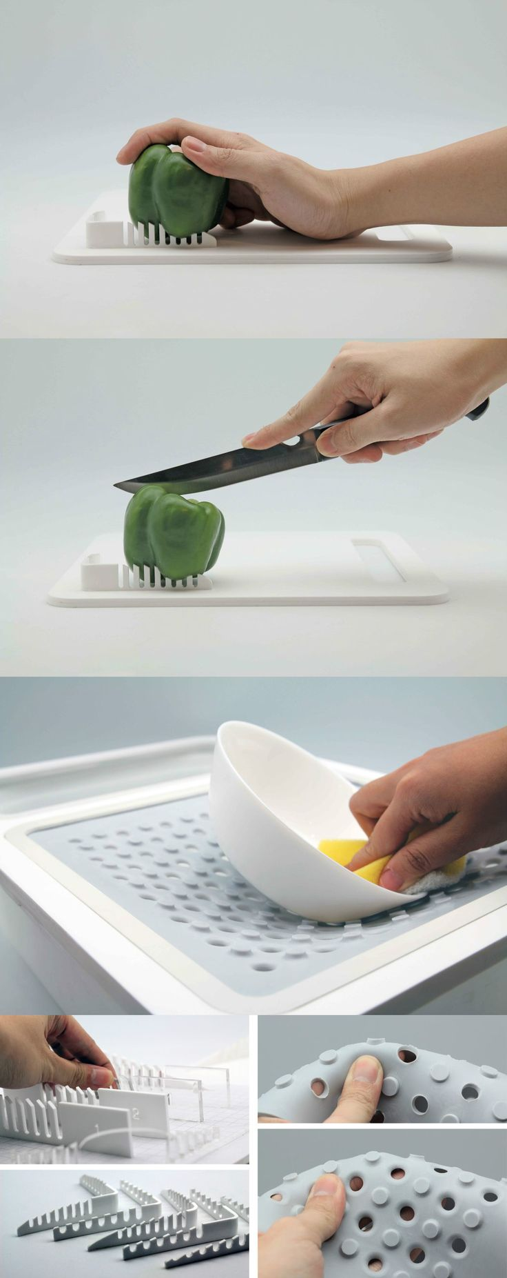 Oneware is a set of kitchen apparatuses for one-handed people who still want to or need to cook | Read Full Story at Yanko Design