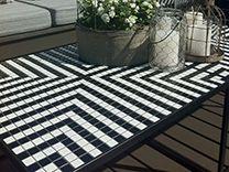 Temperature Design : Tiled Side Table - Black & White