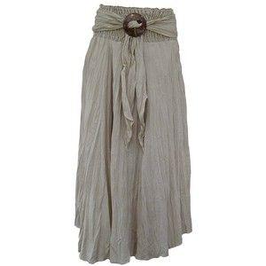 Дамы длинный полный волнистый Бохо Цыганская юбка хлопка с скорлупы кокосового ореха пряжки (Яблоко-зеленый цвет): Амазонка.ко.Великобритания: одежда