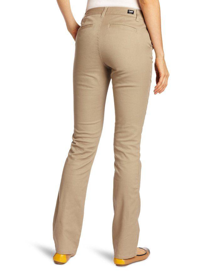 e359d90aae137 Lee Uniforms Juniors Curvey Straight Leg Pant