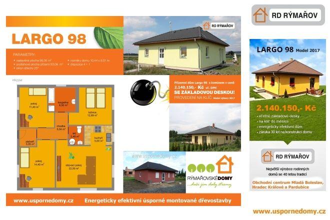 přízemní, bungalov, dům 4+kk, 4+1, pochůzí půda, www.uspornedomy.cz,