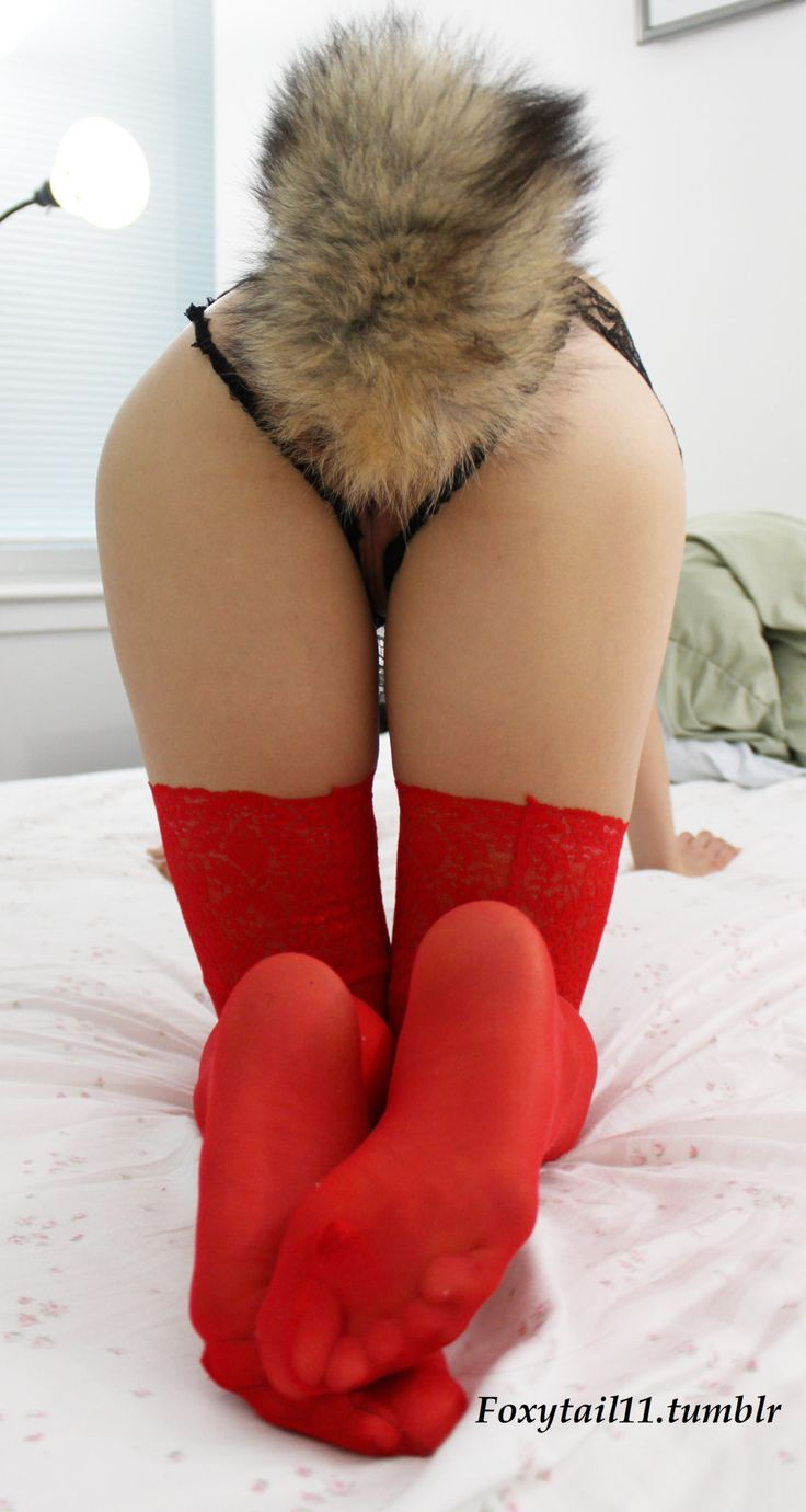 Situation familiar Cute girl with fox tail apologise