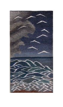 Wave tapestry by Louise Oppenheimer