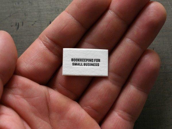 A tiny business card
