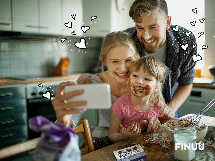 Rodzinne selfie, to najlepsze selfie! :) #selfie #finuu #ciasto #pieczenie #rodzina #kuchnia