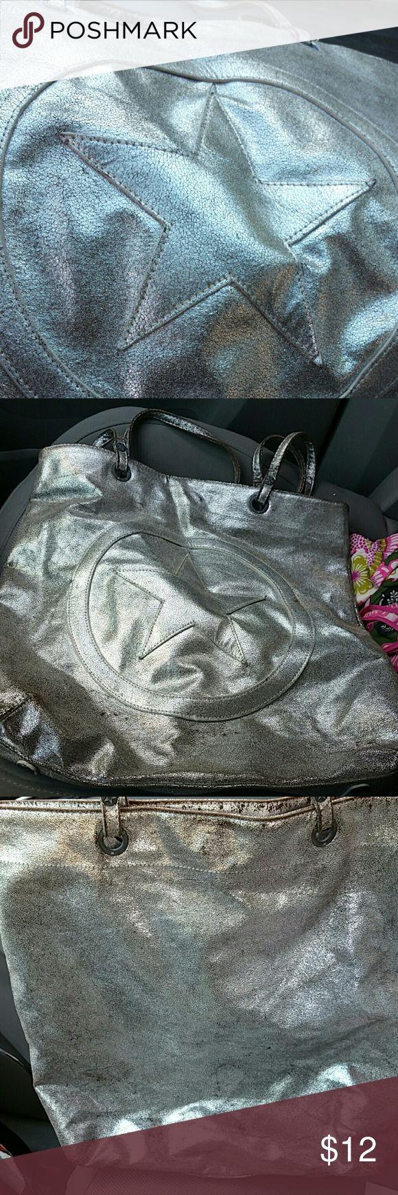converse bag silver