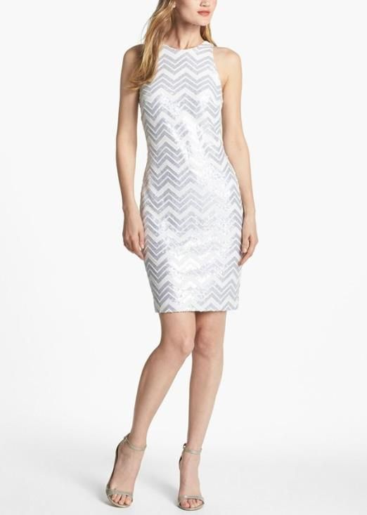 Sequined chevron dress. Perfect for dancing!