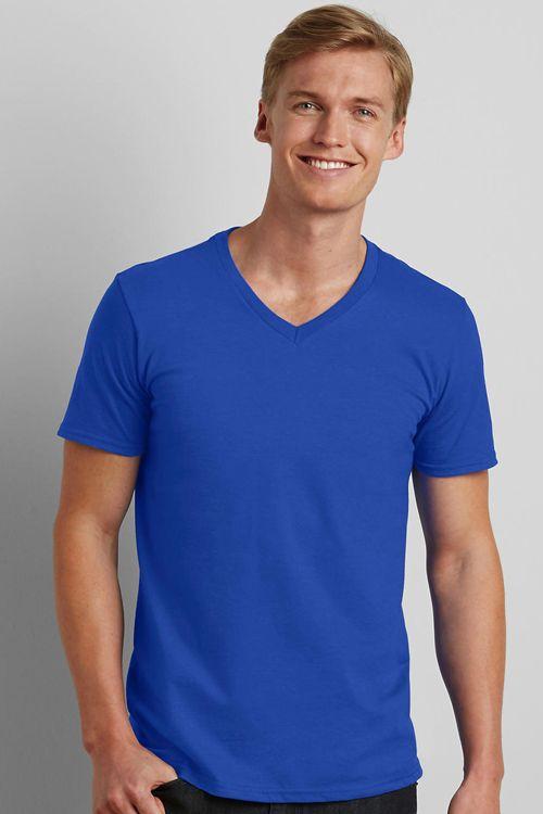 Tricou de bărbat V-Decolteu Softstyle® Gildan | Logofashion #tricourigildan #tricouripersonalizate #tricouribrodate #tricouriserigrafiate