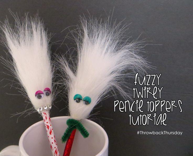 Retro Crafts: Fuzzy Pencil Topper