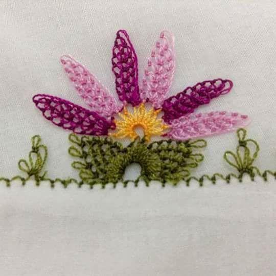 Yapraklı çiçek oyası modeli | Hobiler