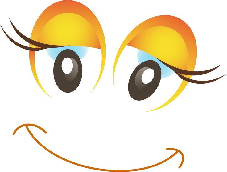 картинки глазки мультяшные улыбаются сатиновые
