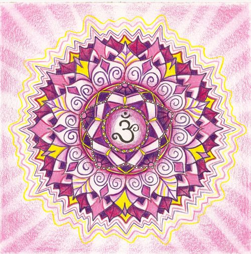 Crown chakra mandala - Sahasrara, which means 1000 ...