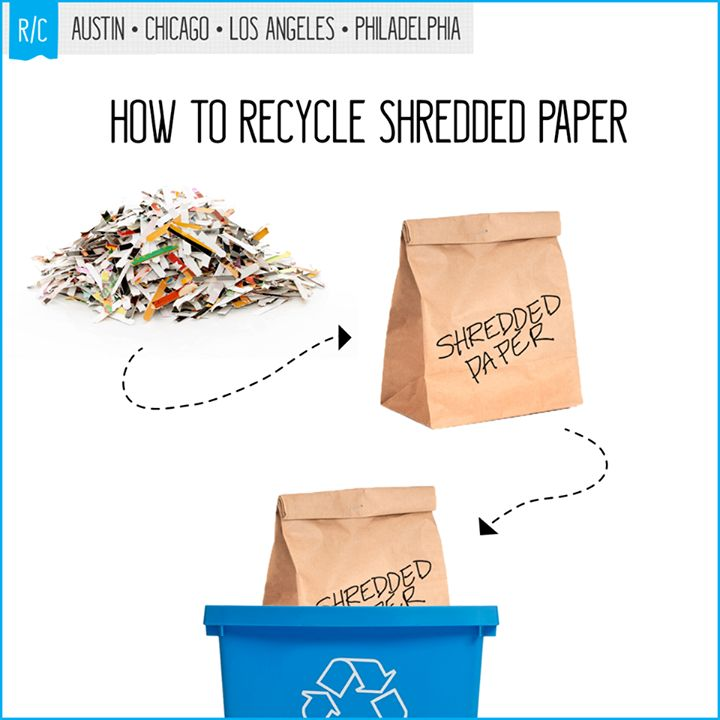 can shredded paper be recycled Everything placed in recycle bins is sifted through and separated out into plastics, papers, metals, and items that can't be recycled—including paper shreds materials roll along large belts and paper shreds easily fall off into piles of non recyclable items.