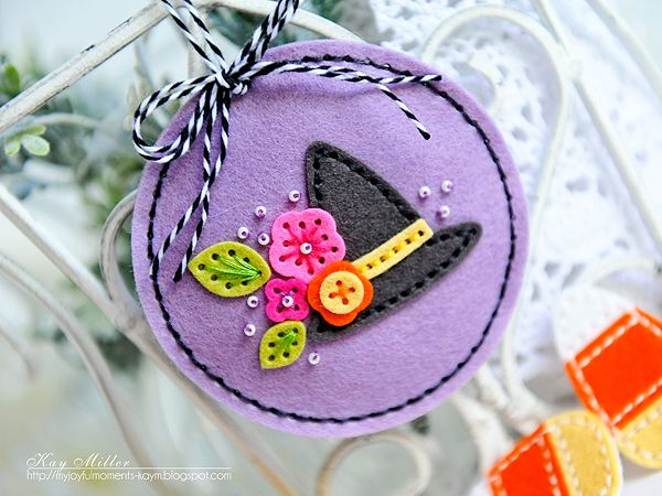 Witch's Hat Ornament by Kay Miller for Papertrey Ink (August 2016)