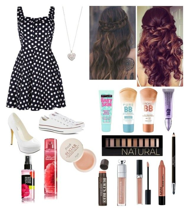 """""""Formal/Semi-Formal"""" by lydiacarrillo on Polyvore featuring Quiz, Michael Antonio, Converse, Accessorize, Maybelline, Sephora Collection, Forever 21, Revlon, Christian Dior and Burt's Bees"""