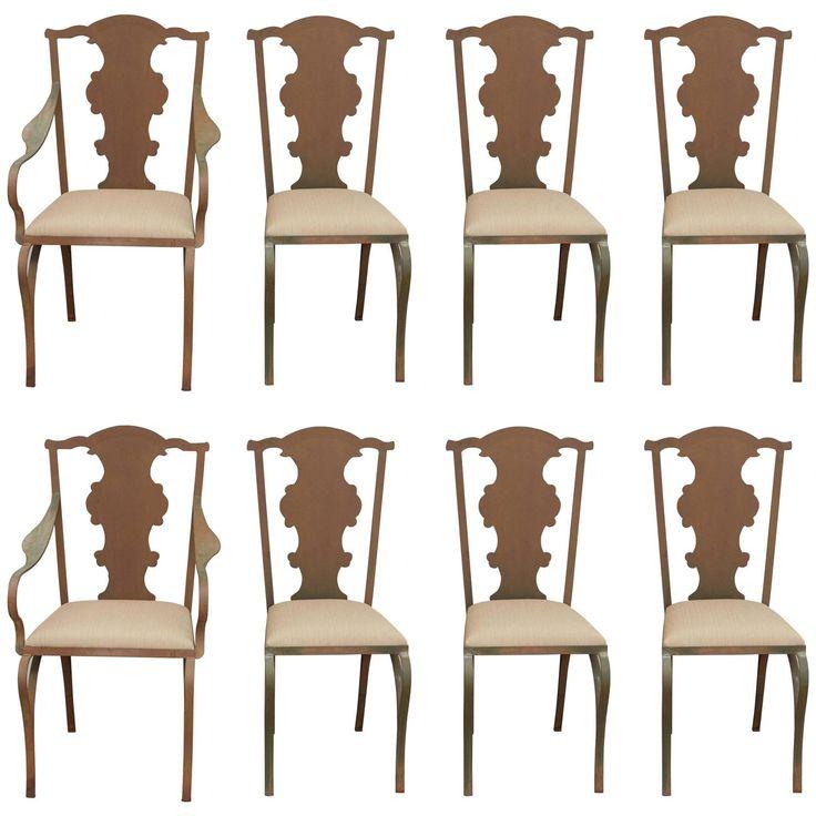 Pat McGann Gallery - Faux Queen Anne Metal Garden Chairs