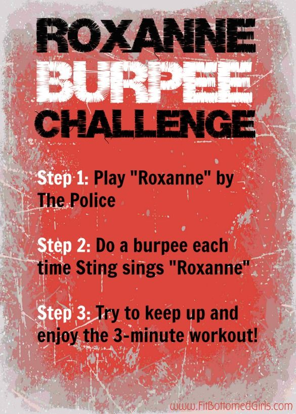 """This """"Roxanne"""" burpee challenge is hilarious. And, well, challenging! Roxanne ... #workout"""