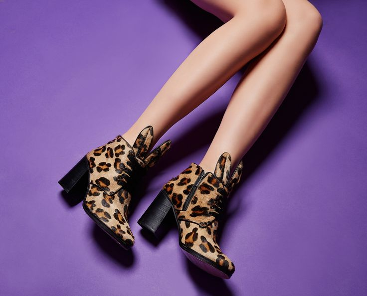 Bunnies gone wild! Blondie boots all glammed up with furry leopard print and ready to roll! Minna Parikka Blondie in leopard pony