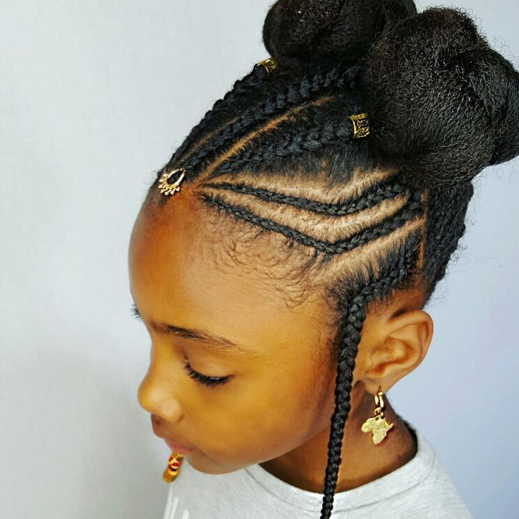 Best 25 children braids ideas on pinterest lil girl hairstyles this hairstyle is derived from the traditional hairstyle of the fulani tribe and its urmus Image collections