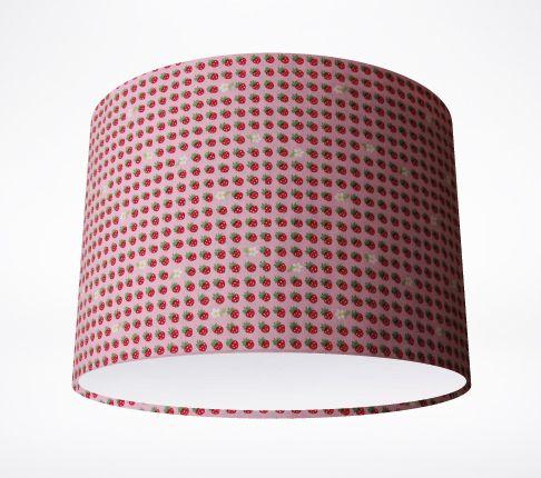 Strawberries pink lampshade