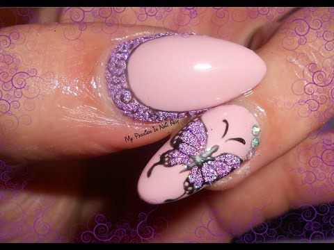 Simple gel nail art - idee decori in gel semplici e veloci - YouTube